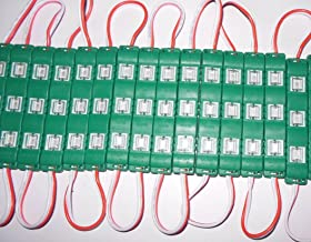 Galaxy Plastic 3 Led Strips 12V Waterproof 5630/5730 Modules - 20 Modules, Green