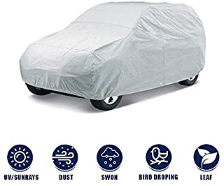 Kingsway Dust Proof Car Body Cover for Maruti Suzuki Alto (Model Year : 2000-2012) (Silver Matty, Triple Stitched)