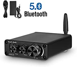Nobsound G3 2 Channel Bluetooth 5.0 Power Amplifier 100W Class D Hi-Fi Stereo Audio Mini Amp Wireless Receiver Home Theater Treble Bass Control (Black)