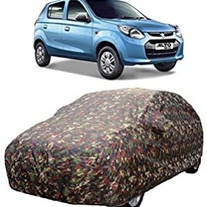 ROYALS CHOICE Water Resistant Car Cover for Tata Tiago Wizz (2019-20)(Military Color Without Mirror Pocket)
