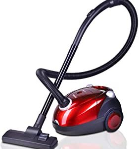 Inalsa Spruce Vacuum Cleaner-1200W for Home with Blower Function, 2L Reusable dust Bag, 2 years warranty, (Red/Black)